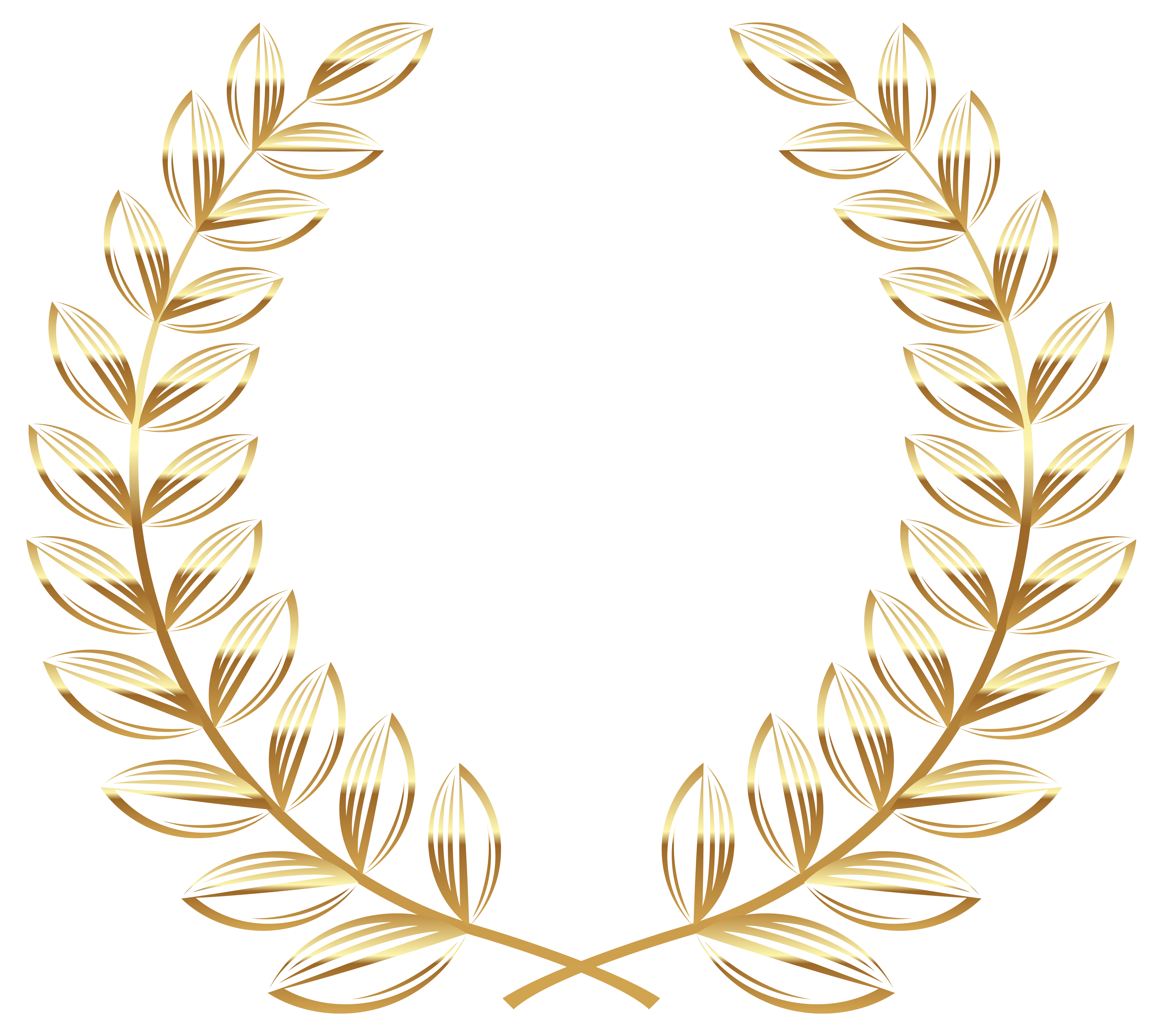 Golden Wreath Transparent Png Clipart Picture Gallery Yopriceville High Quality Images And Transparent Png Free Golden Wreath Clip Art Floral Logo Design