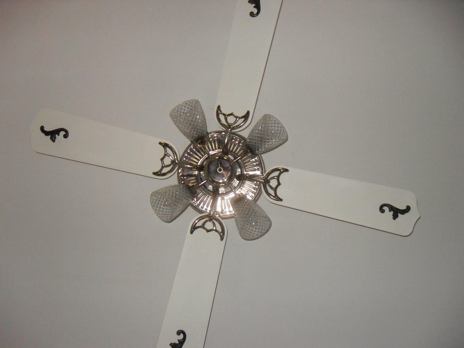 Rehab A Dated Ceiling Fan With Little Paint And Some Wood Accents Furniture Makeovers Ceilings Woods