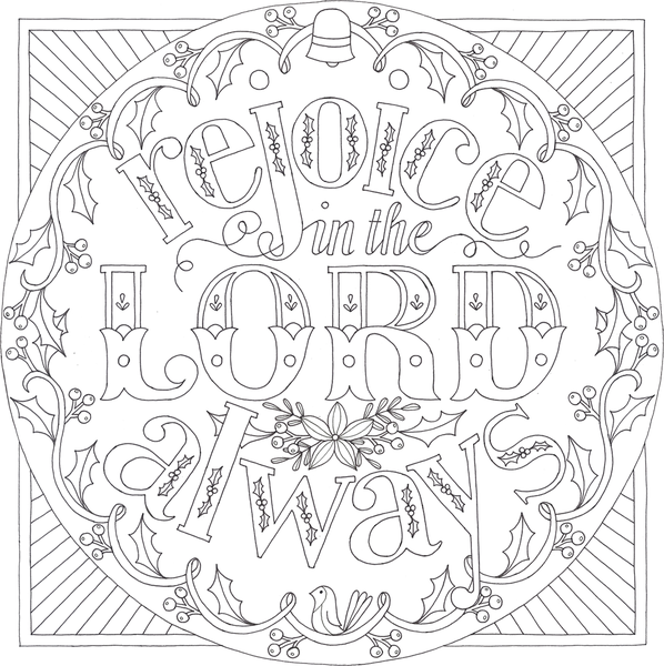 15+ Rejoice in the lord coloring page download HD