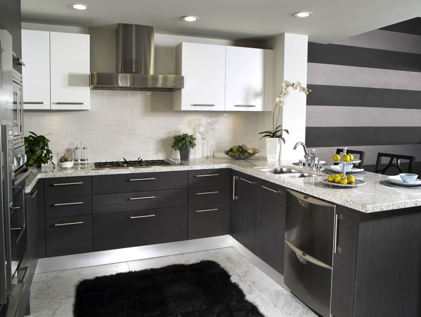 25 U Shaped Kitchen Designs (Pictures) | Subway tile backsplash ...