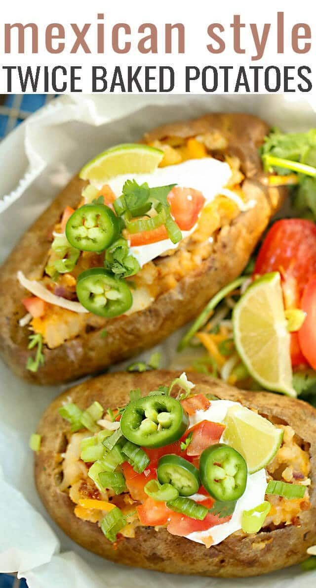 Mexican Twice Baked Potatoes Recipe {Oven and Air Fyer Instructions}