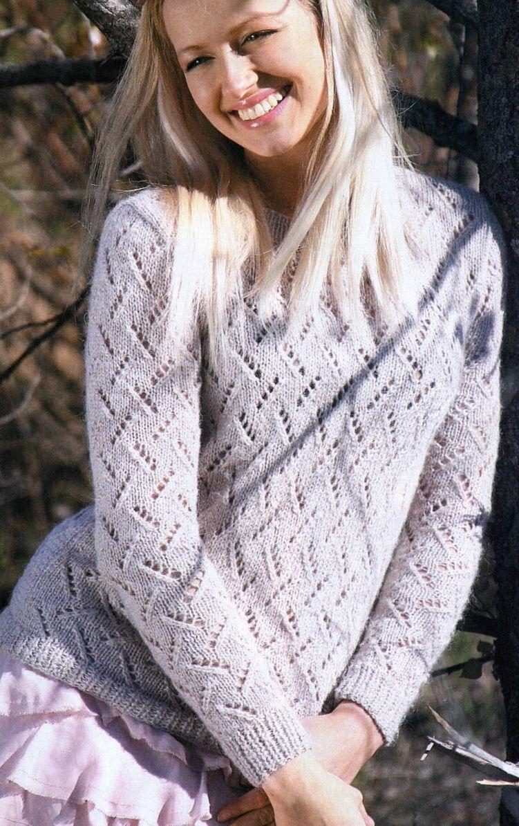 Azsúr mintás mohair pulóver – Kötni jó – kötés, horgolás