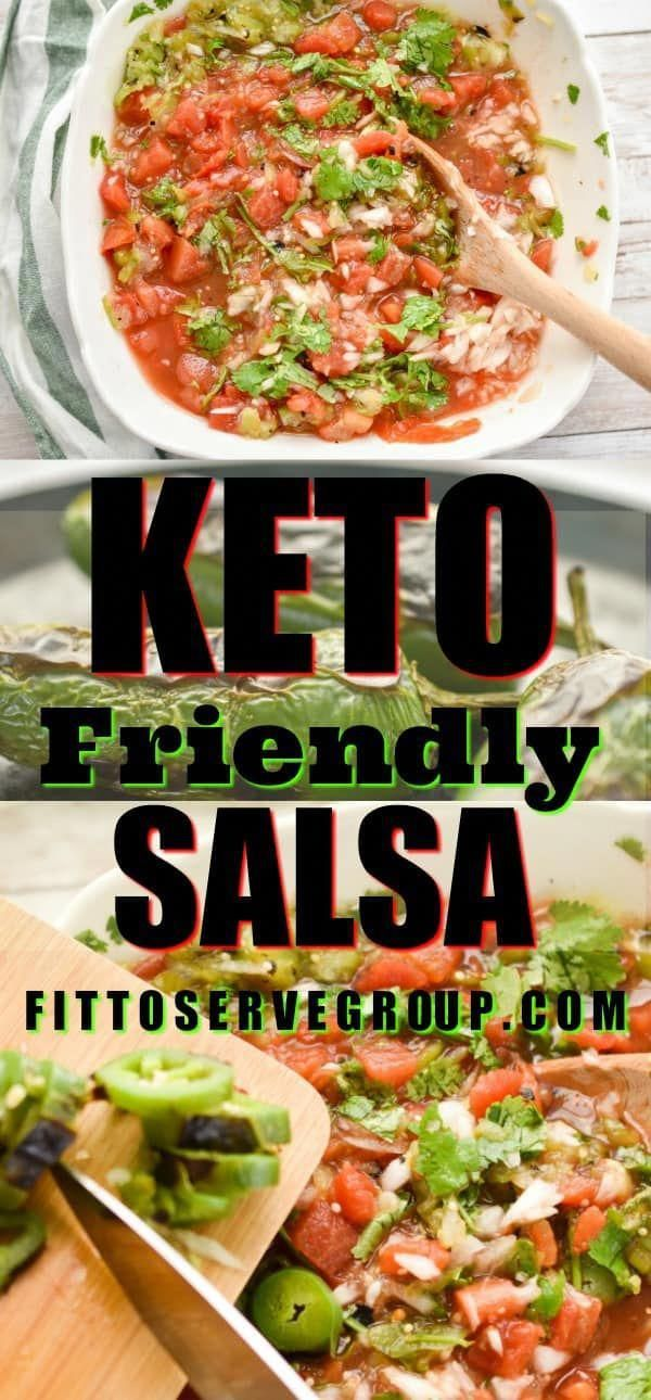 Make your own Keto-friendly salsa and avoid the high carbs in sugar-loaded bottled salsa. It's an easy delicious way to enjoy fresh salsa while doing a Keto Diet. #salsa #homemadesalsa #lowcarbsalsa #ketofriendlysalsa #NoCarbDietPlan