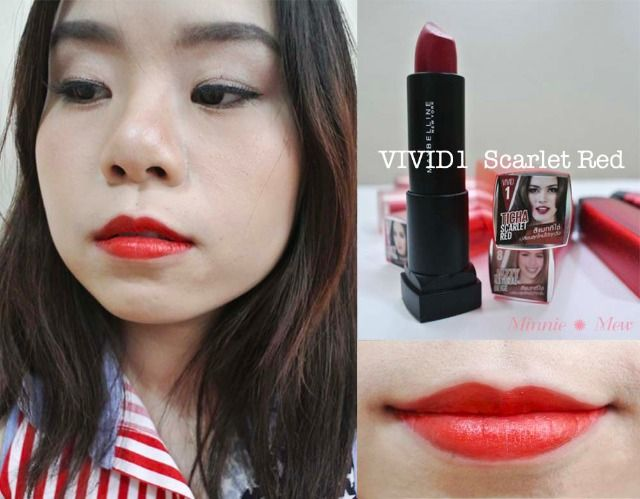 Maybelline Color Sensataional Matte Collection จากสาวๆ The Face Thailand Ss2