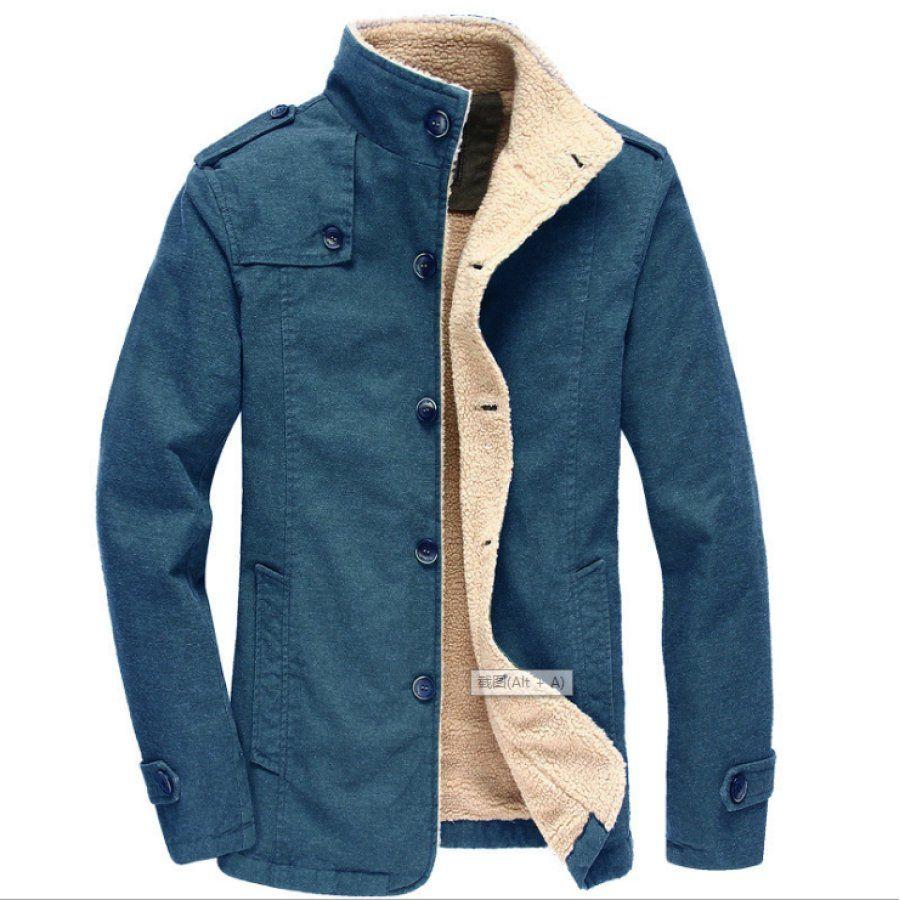 Fluffy One Plus Velvet Padded Cotton Outerwear Salolist Com In 2021 Men S Coats And Jackets Winter Jacket Men Mens Winter Coat [ 900 x 900 Pixel ]
