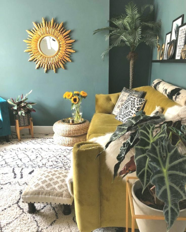 Pin On Living Room #yellow #and #green #living #room