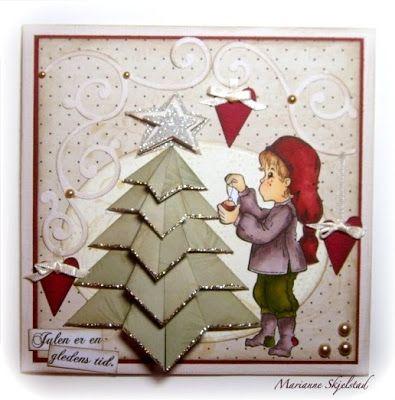 Juletre på julekort