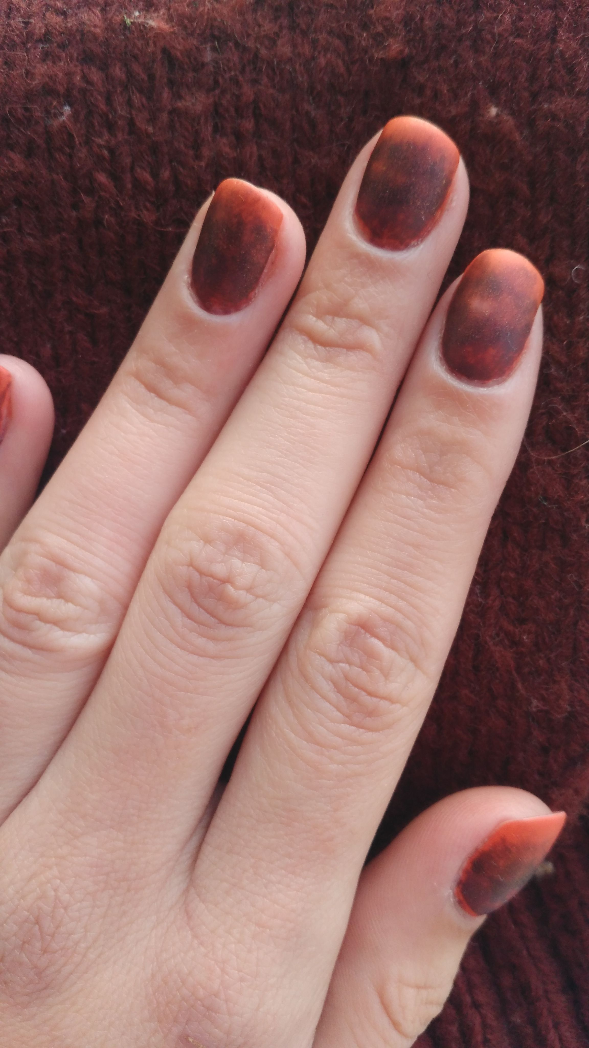 Autumn brown and orange ombre nails #matte #ombre #autumn | Nail ...