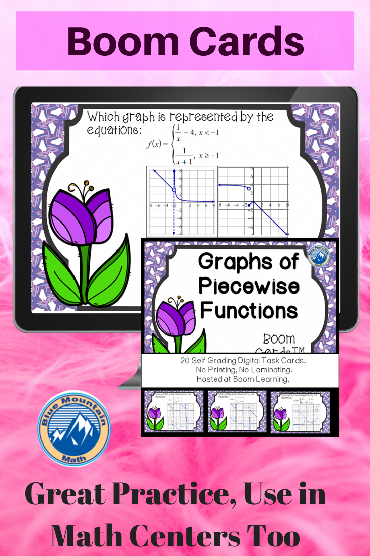 Graphs Of Piecewise Functions Boom Cards Digital Task Cards Task Cards Graphing Digital Task Cards [ 1102 x 735 Pixel ]