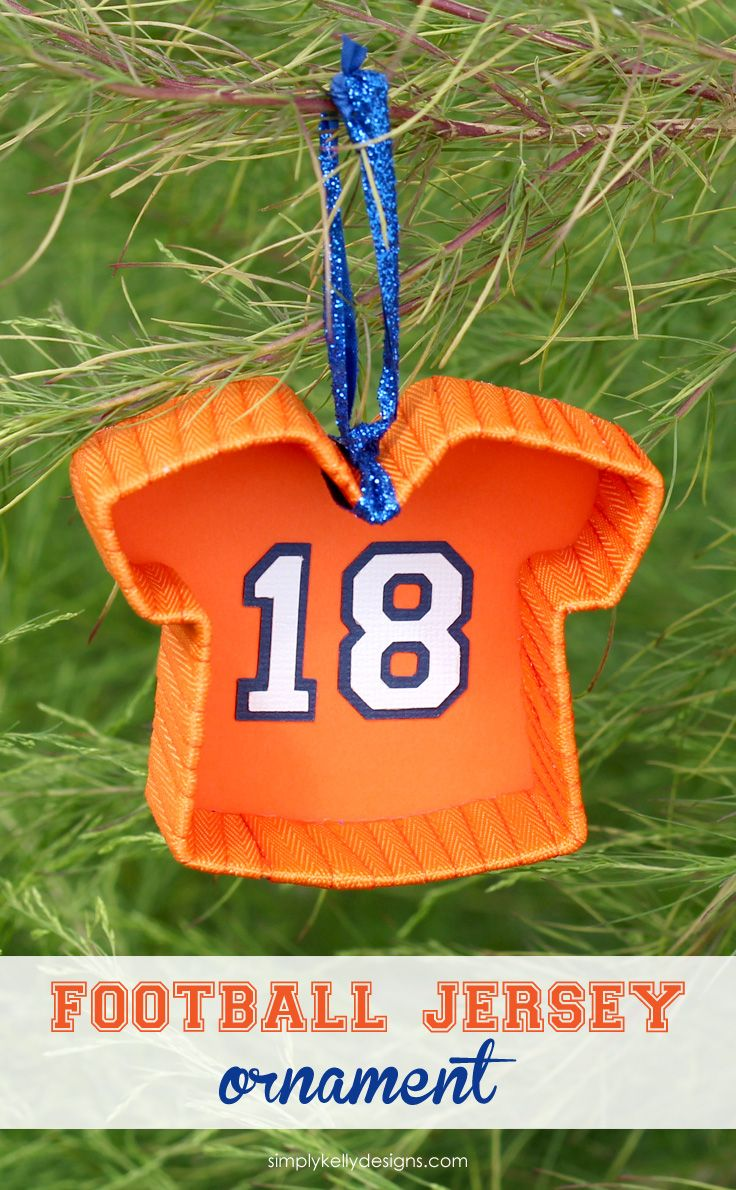 football jersey ornament to show your
