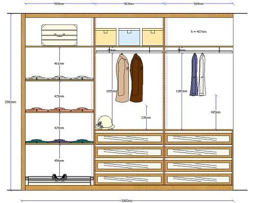 Distribucion De Closet Closet Design Software Closet Designs