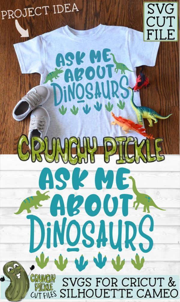 Ask Me About Dinosaurs SVG - SoFontsy