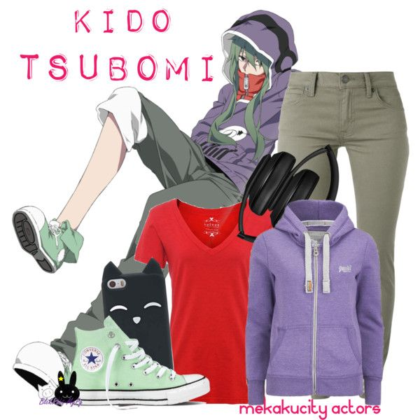 Kido Tsubomi, from Mekakucity Actors by blackrabbitmegapig on Polyvore