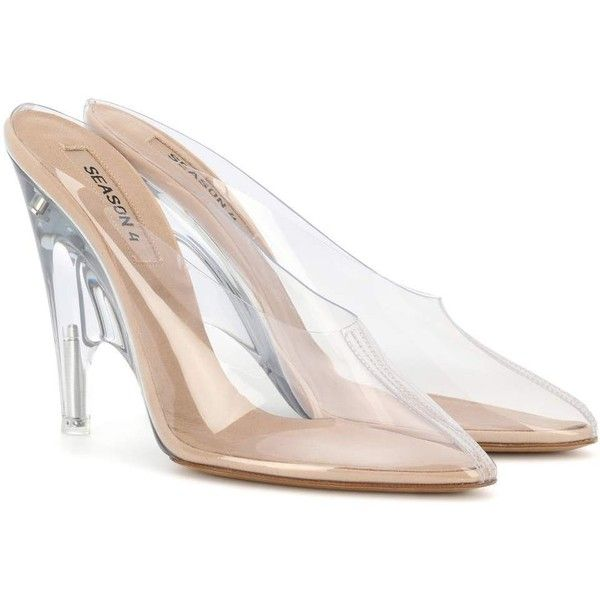 60c55c025e7 Yeezy Transparent Mules (SEASON 4) ( 620) ❤ liked on Polyvore featuring  shoes