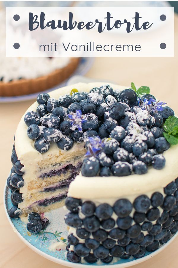 Photo of Blaubeertorte mit einem Hauch Orange und Vanillecreme – Backrezepte-Blog