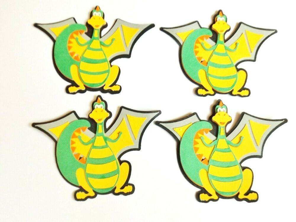 Dragon Creatures Papercraft Embellishments Scrapbooking