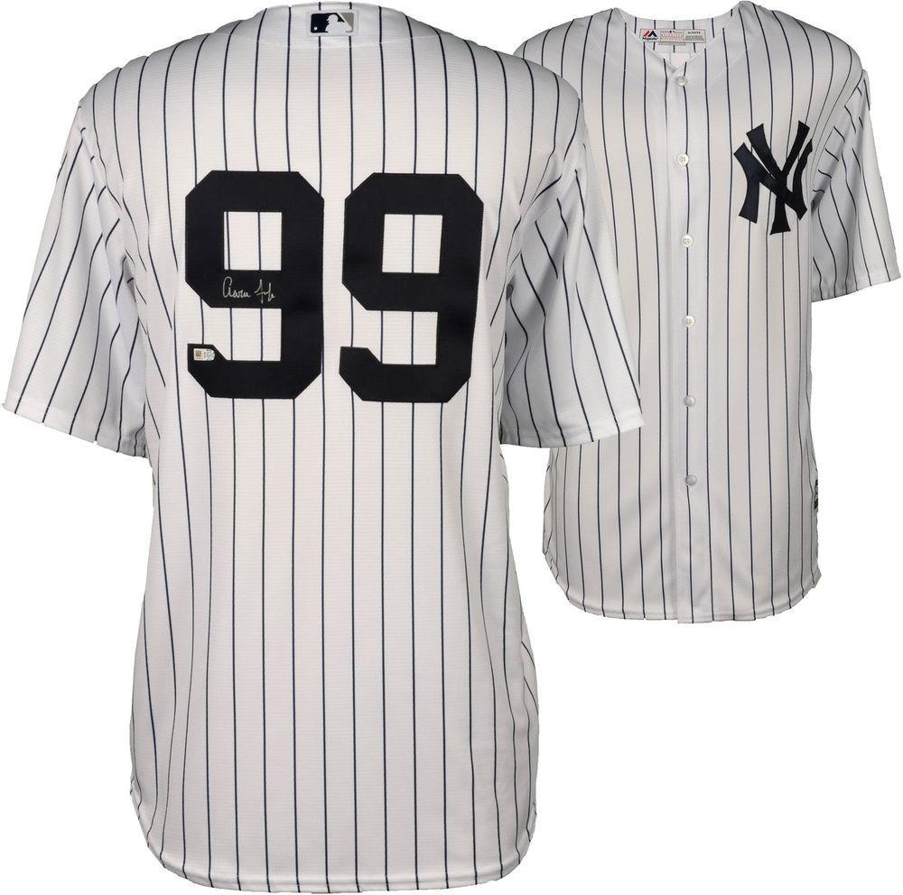 Aaron Judge Yankees Signed Majestic White Replica Jersey Fanatics New York Yankees Jersey Yankees
