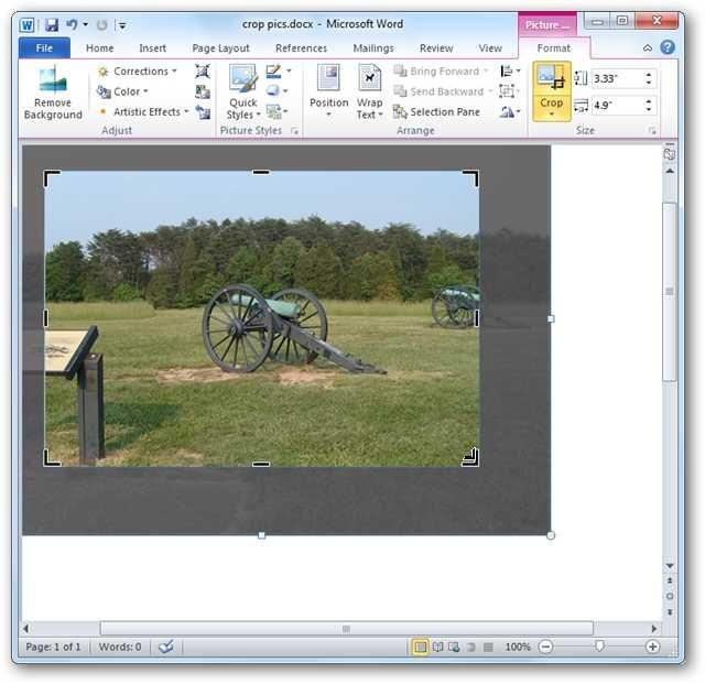 How To Crop Pictures In Word Excel And Powerpoint 2010 How To Crop Pictures Crop Pictures Powerpoint 2010