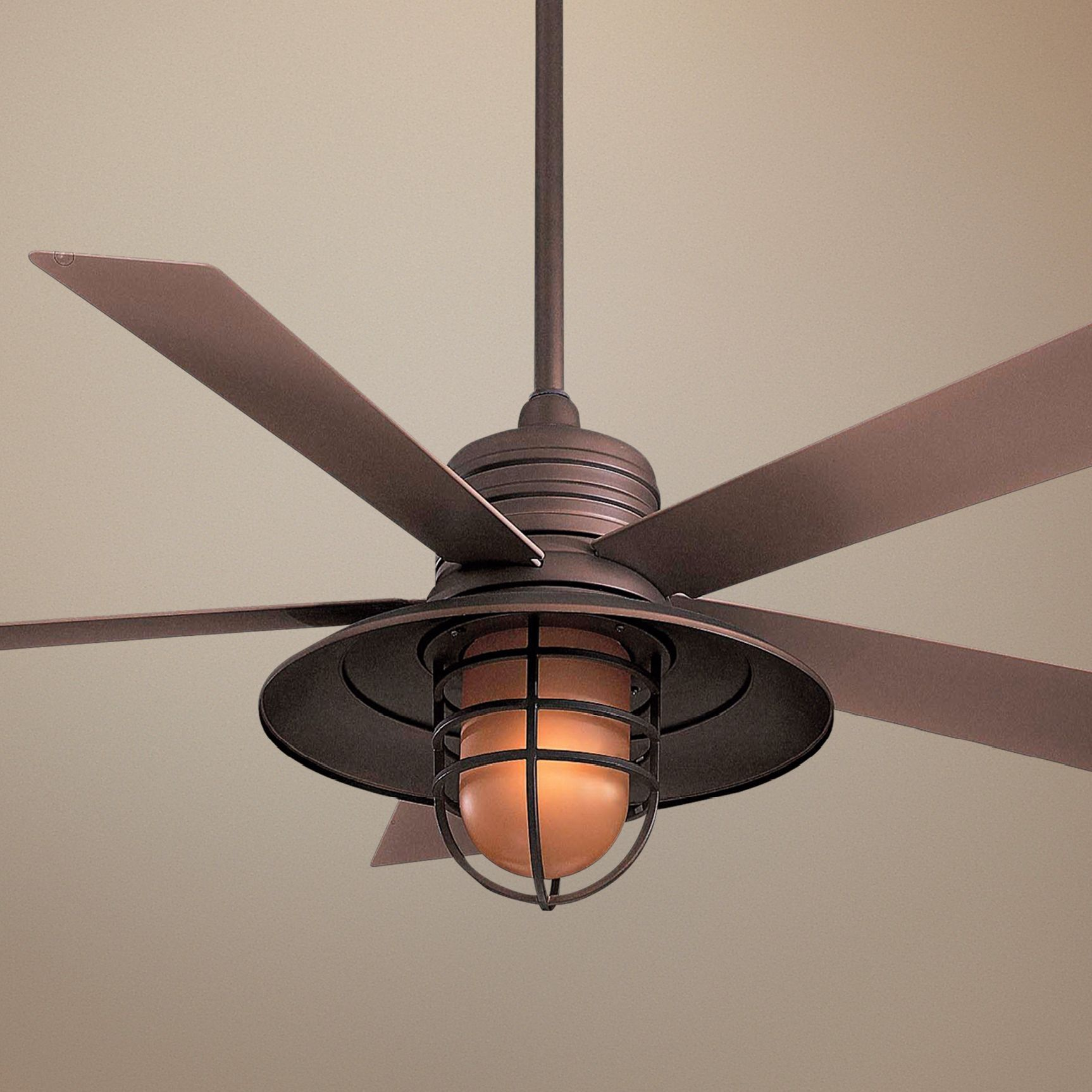 Caged Ceiling Fans With Lights o