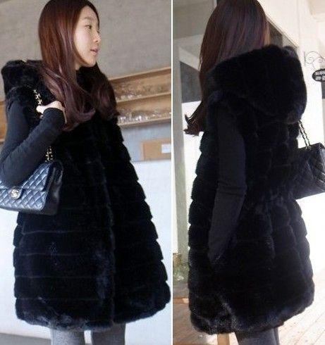 Aliexpress.com : Buy winter long faux fur with a hood vest women ...