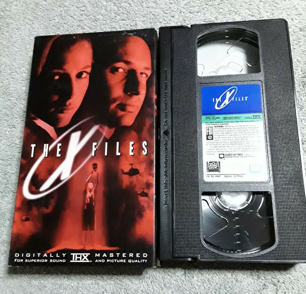 The X Files 1998 Vhs Video Scully Mulder Vintage Mulder Scully Gillian Anderson Gillian Anderson David Duchovny