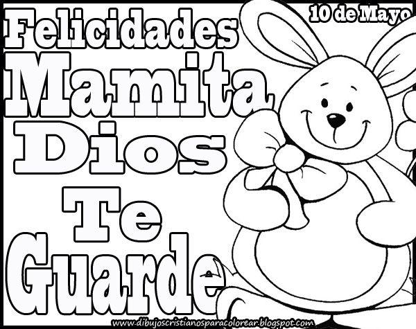 Dibujos Cristianos Felicidades Mamita Dios Te Guarde Para