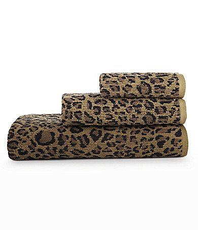 Bay Linens Animal Print Bath Towels Dillards Com Bath Towels Hand Towels Towel