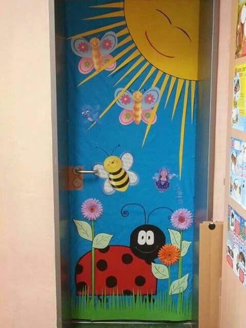 Spring Decoração Sala De Aula Pinterest Portas Decoradas