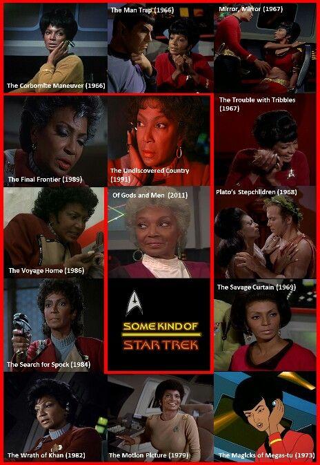 Nichelle Nichols as Uhura, through the years.