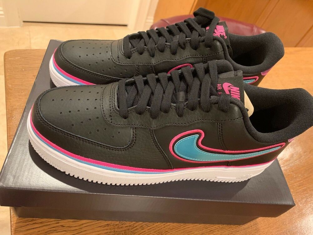 Miami Heat Vice Nights Nike Air Force 1 Mens Shoes Size 9.5