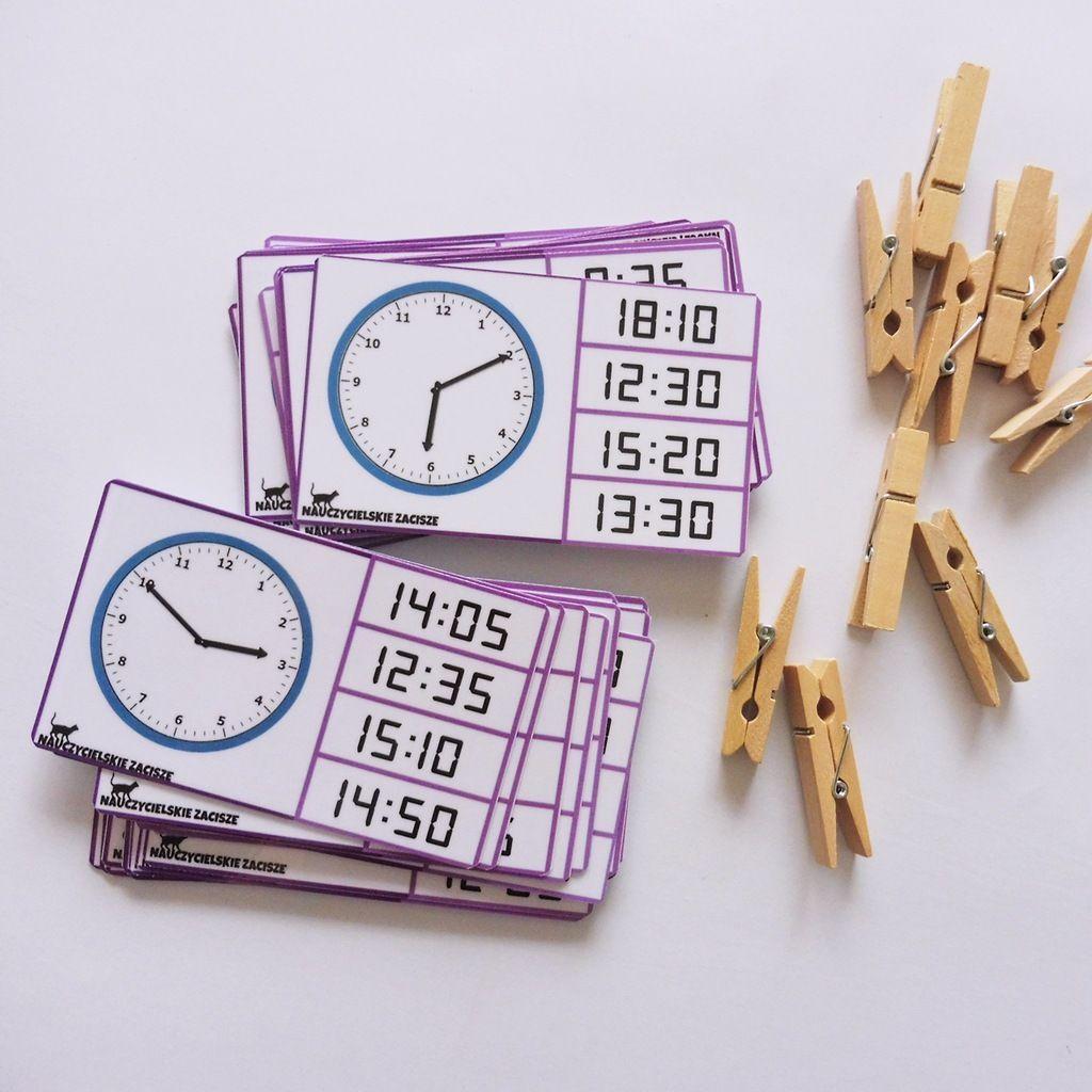 Klamerkowe Pomoce Dydaktyczne Zegary Cz 2 School 10 Things Math