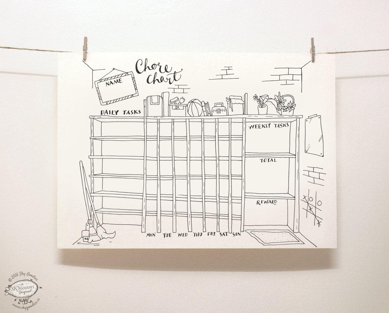 Doodle Chore Chart Organizer