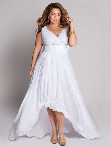 White Large Size Casual Dresses Casual Wedding Dress Plus Size Bridal Dresses Plus Size Wedding Gowns