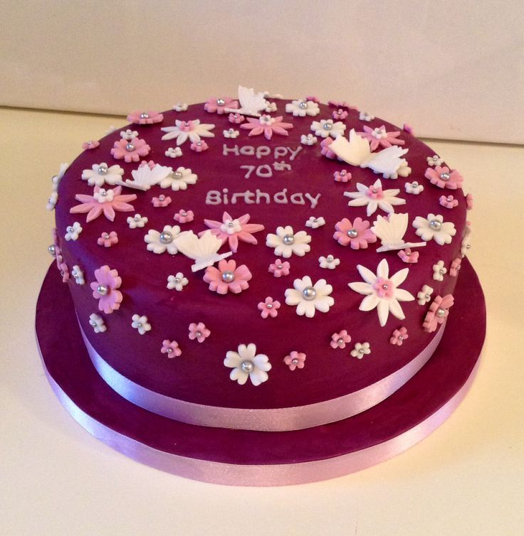 Birthday Cakes For Women 70th