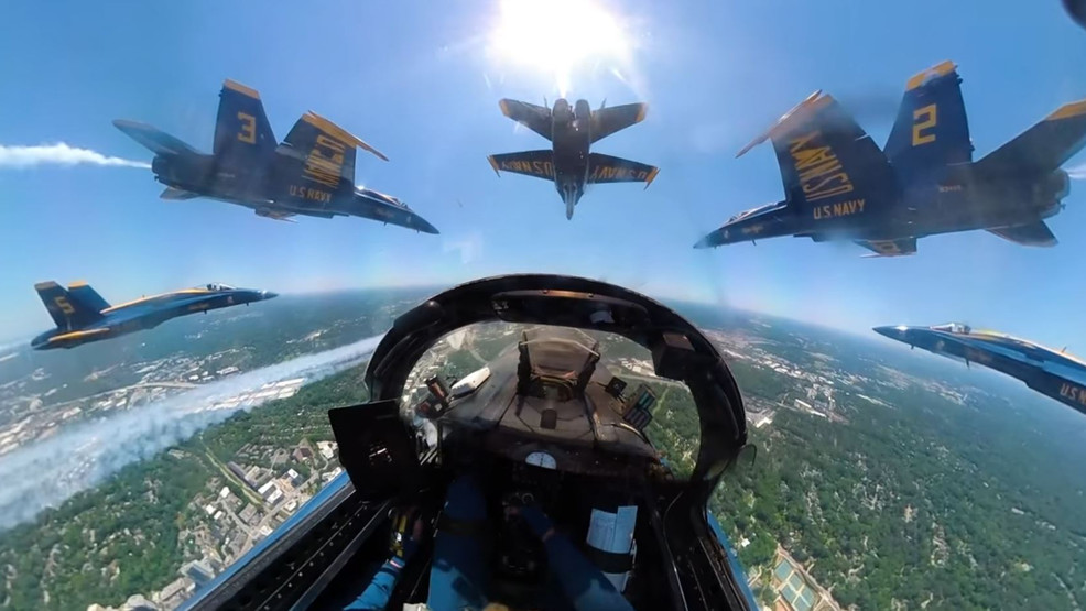 Blue Angels release flight path for Wednesday's tribute to