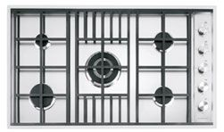 90cm Lab flush and built-in hob, 4 gas burners + triple ring