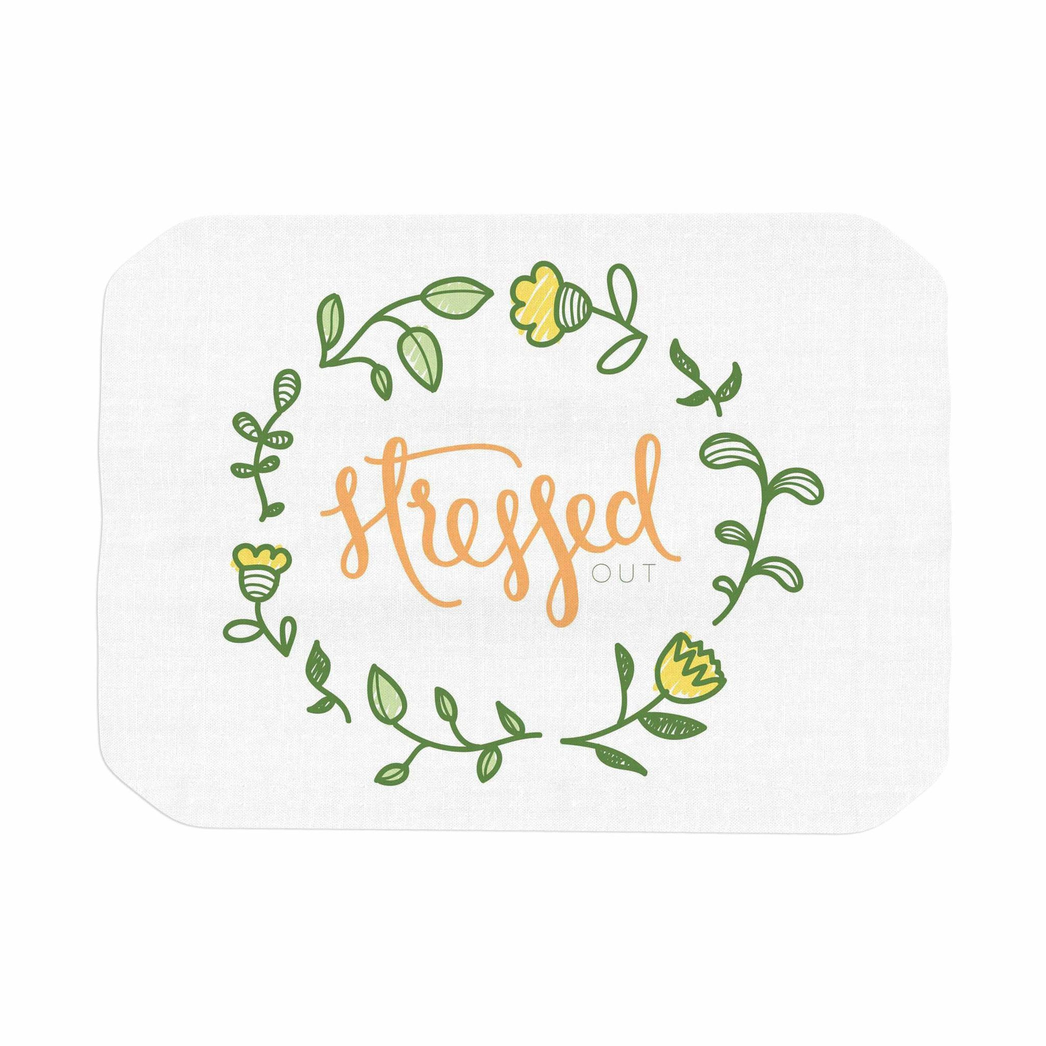 "Busy Bree ""Stressed Out "" Green Floral Place Mat"