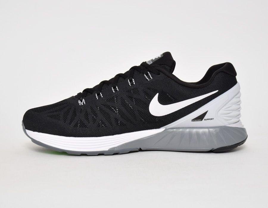 dadf5e0db69b6 Nike Lunarglide 6 Black White  sneakers