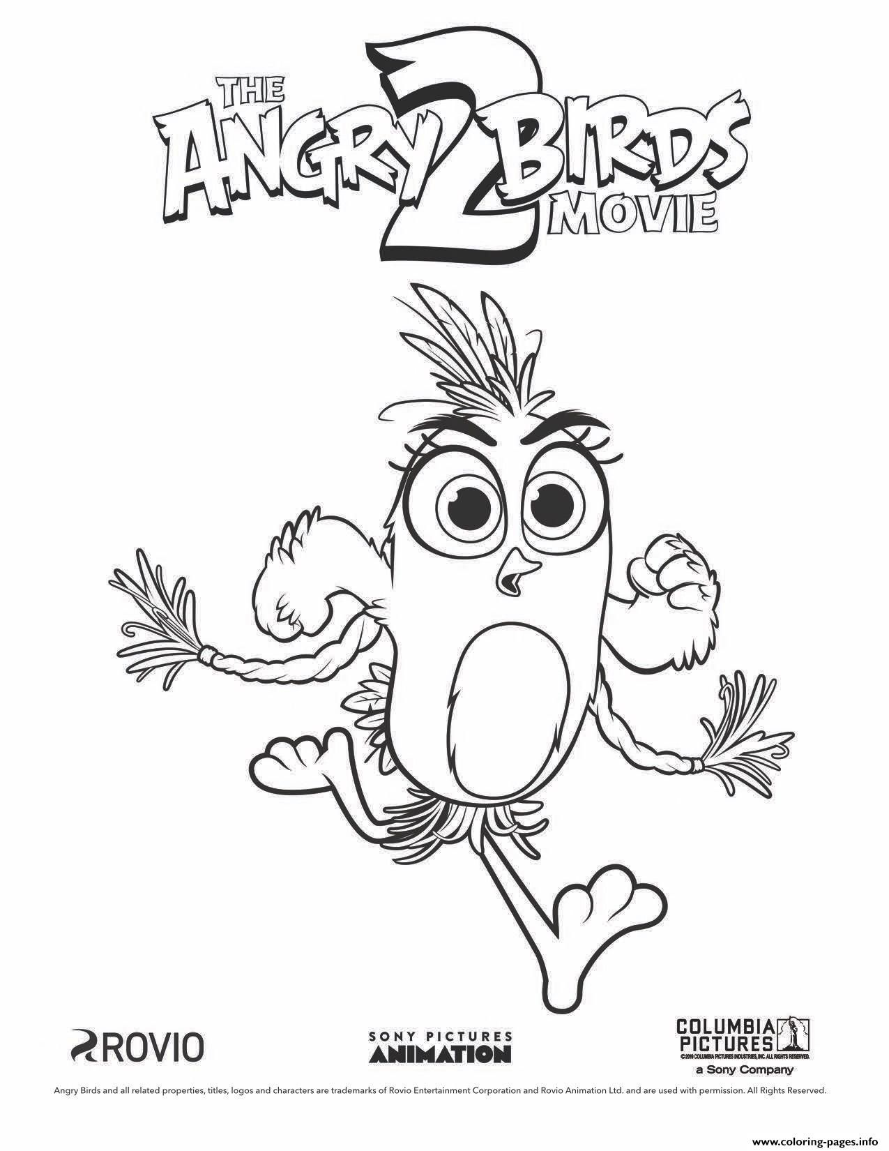 Print Angry Birds 2 Movie Silver coloring pages | Desenhos ...