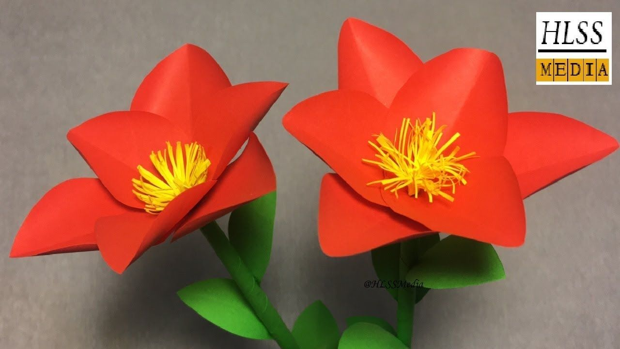 Super Easy Way To Make Simple Flower With Paper Paper Flower