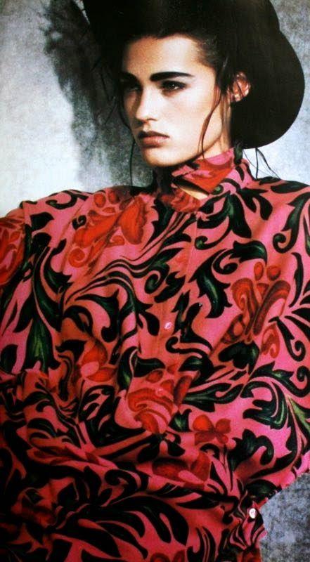 Yasmin Le Bon in Max Mara, Donna (Italy) July/August 1985