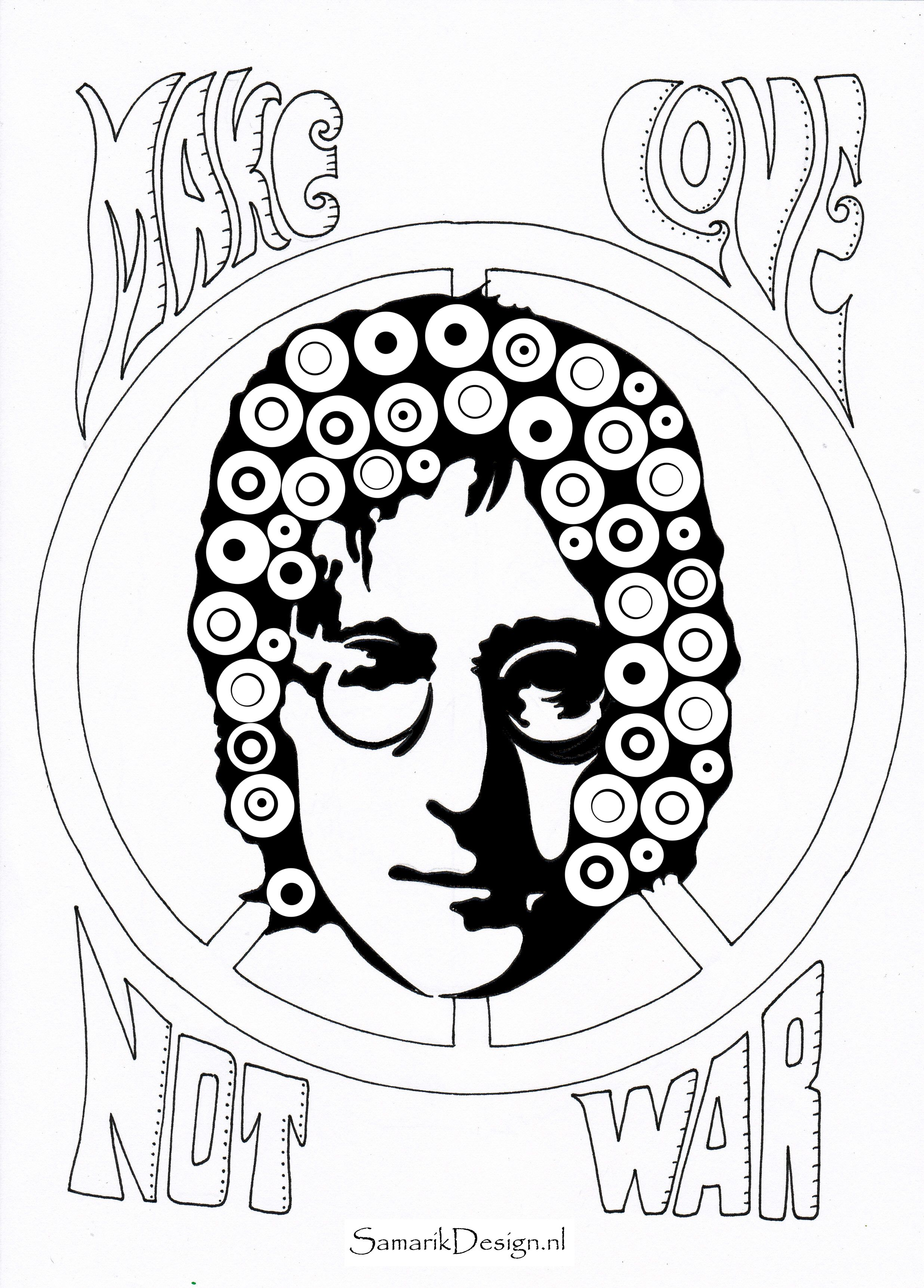 John lennon famous people coloring pages to print adult coloring pages john lennon