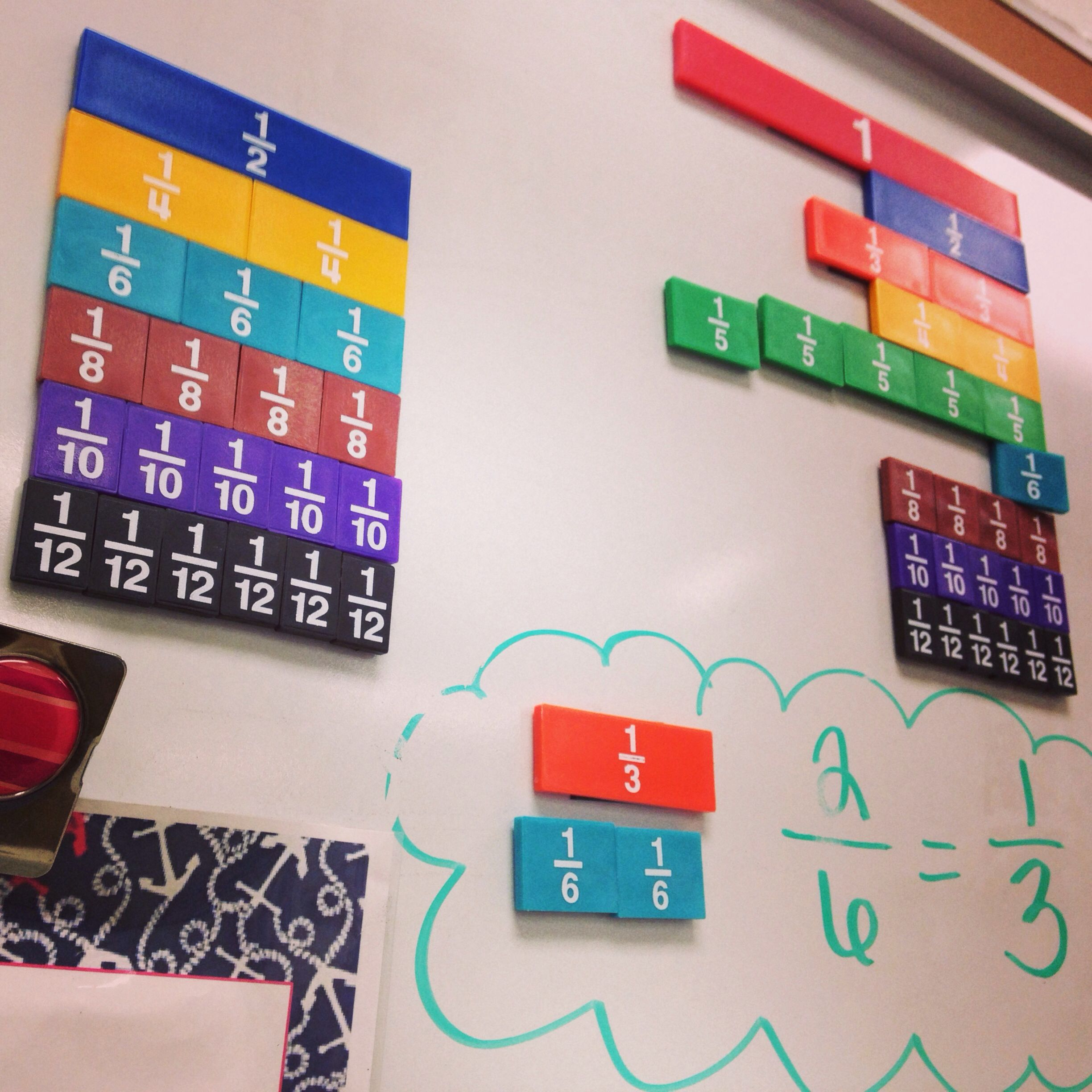 Magnetic Fractions Take Your Classroom Fraction Strips And Add Magnetic Tape To The Back Www Proverbsliving Org Math Gift 4th Grade Math Games Fractions [ 2448 x 2448 Pixel ]