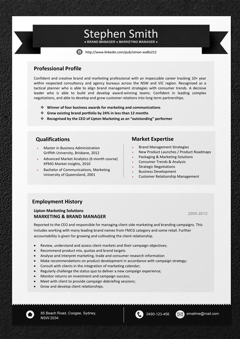 resume modern template free download
