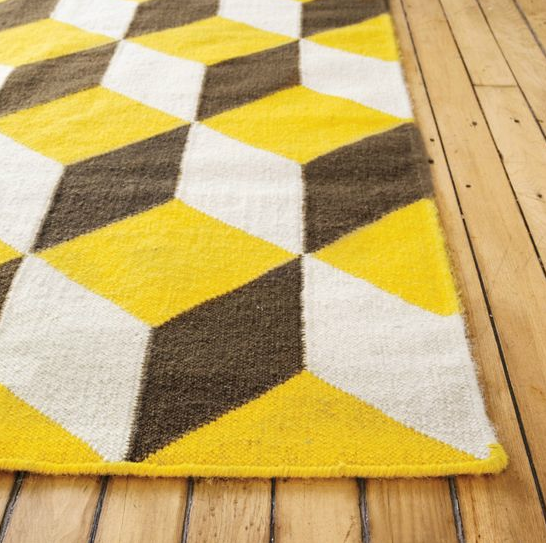 Yellow Geometric Rug From Design Within Reach Graphic Rug Modern Rug Design Rug Design