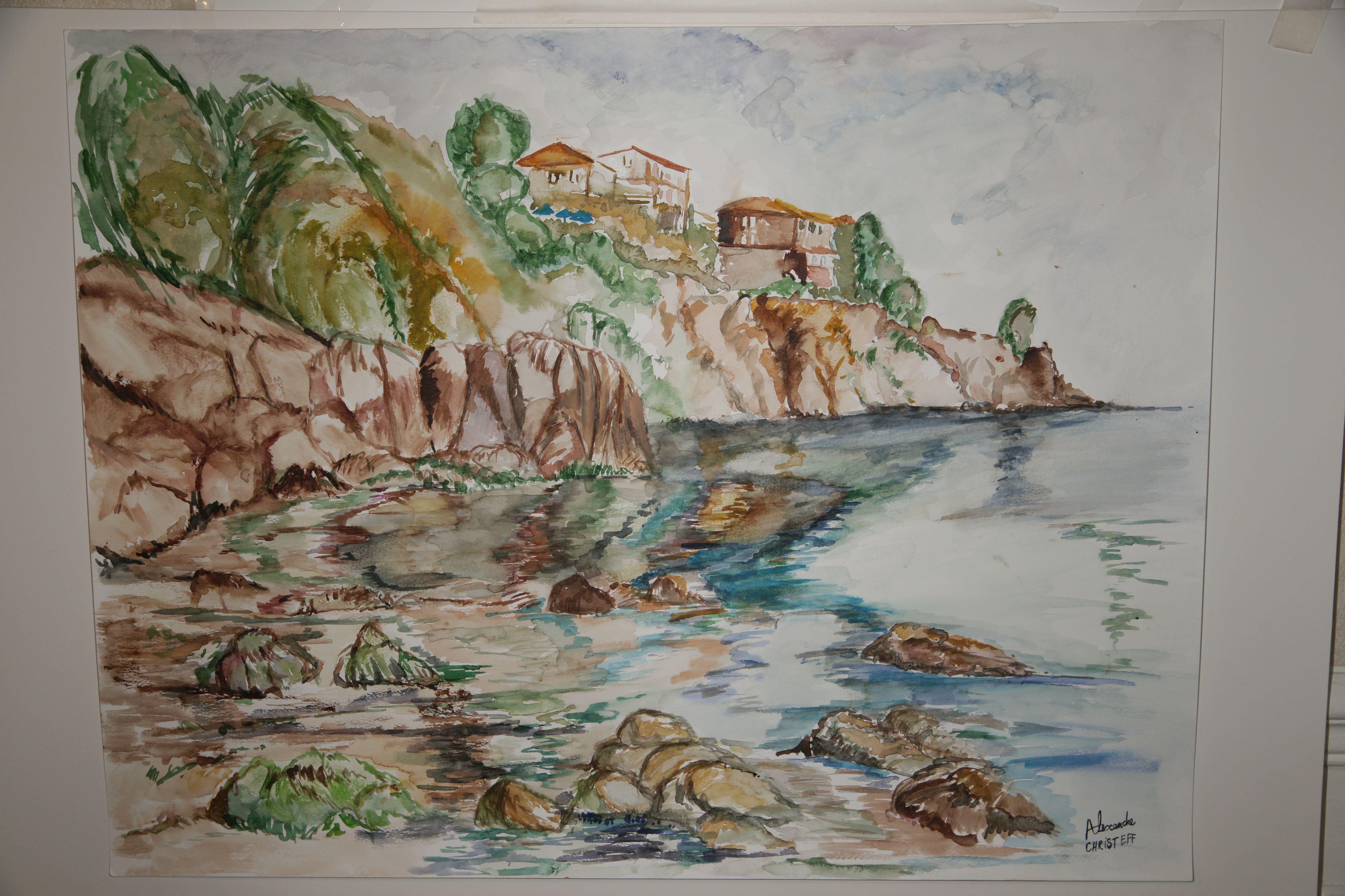 Epingle Par Christeff Sur Paysages Acrylique Huile Et Aquarelle En
