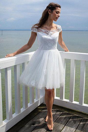 Bravo Short/Mini Scoop Sleeveless Tulle Wedding Dresses   Wedding ...