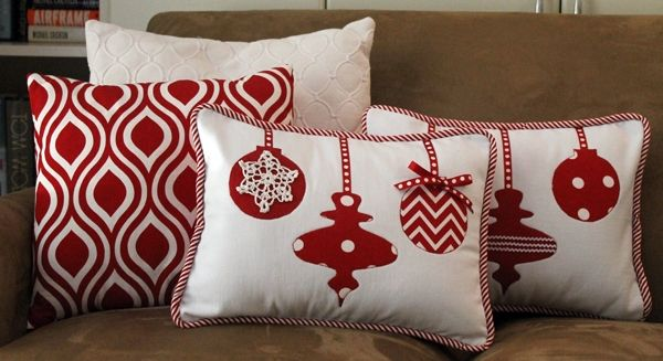 DIY Idea Red White Decorative Pillows DIY And Crafts Pinterest Awesome Red And White Decorative Pillows