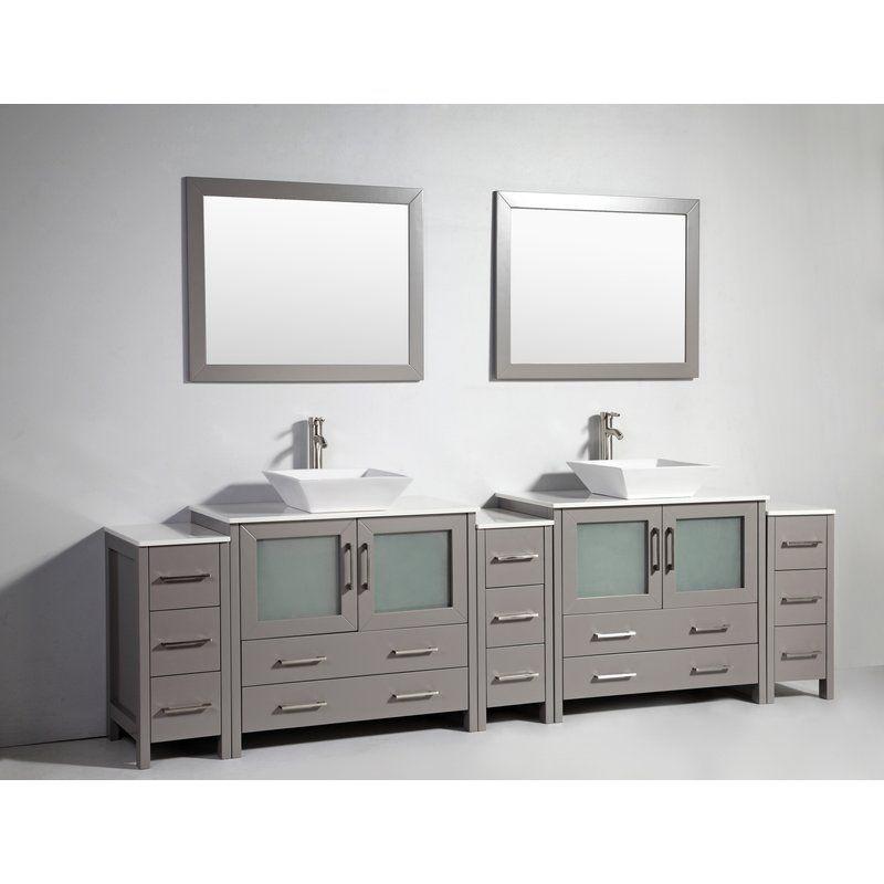 Karson 108 Double Bathroom Vanity Set With Mirror Beautiful Bathroom Vanity Bathroom Vanity Double Vanity Bathroom