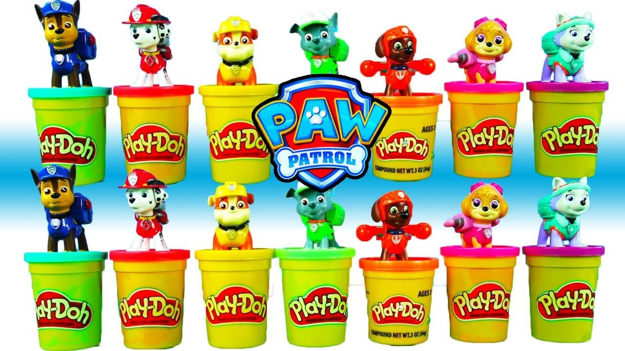 PAW PATROL Play-Doh Learning - Paw Patrol pup Colors for